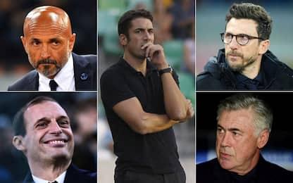Serie A, l'allenatore italiano piace: 19 su 20