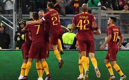 Dzeko, che show! Roma-Viktoria Plzen 5-0