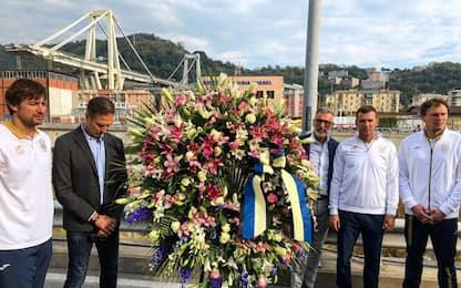 "Sheva, visita al Ponte Morandi: ""Vicini a Genova"""