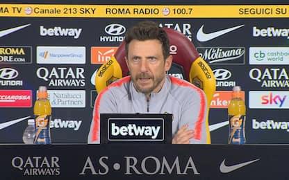 "Di Francesco: ""Manolas c'è, De Rossi sta bene"""
