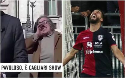 Social Cagliari, Pavoletti all'ultimo grido. VIDEO