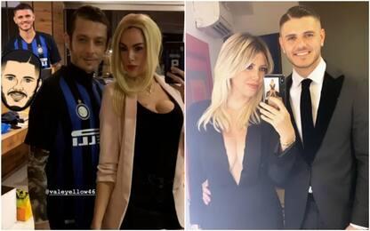 Rossi e fidanzata si travestono da Icardi & Wanda