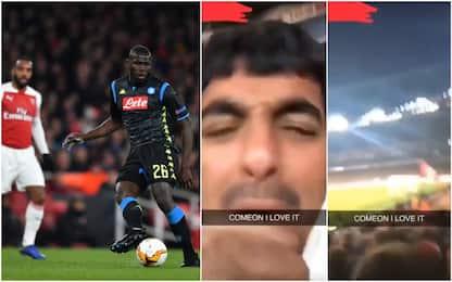 Insulti razzisti Koulibaly: Arsenal indaga tifoso