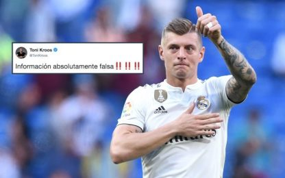 "Kroos via dal Real? Lui su Twitter: ""Tutto falso"""