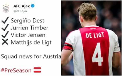 """Ajax non convoca De Ligt: """"In attesa di cessione"""""""