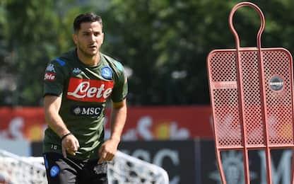 Manolas, primo allenamento con il Napoli. VIDEO