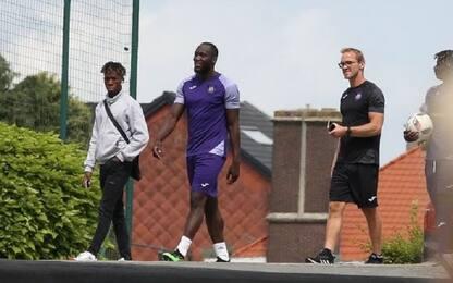 Lukaku si allena ancora con l'Anderlecht