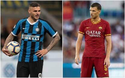 Roma-Inter, si lavora allo scambio Dzeko-Icardi