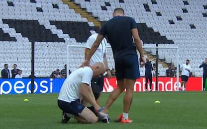 Giroud: botta alla caviglia, nessun allarme. VIDEO