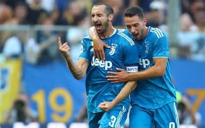 Alla Juve basta Chiellini: 1-0 al Parma al debutto