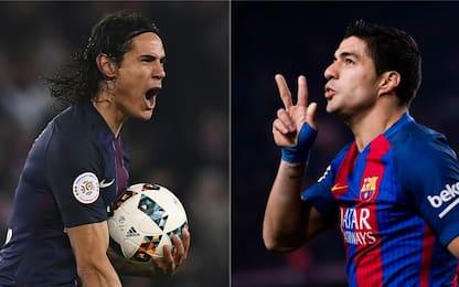 Cavani-Suárez: faccia a faccia tra gemelli diversi