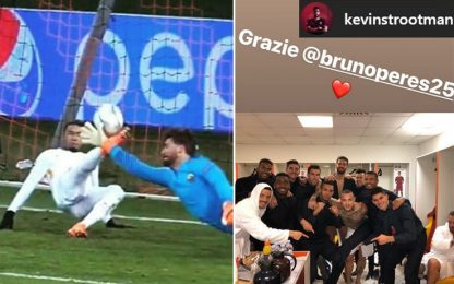 """La Roma non dimentica: """"Grazie Bruno Peres"""""""