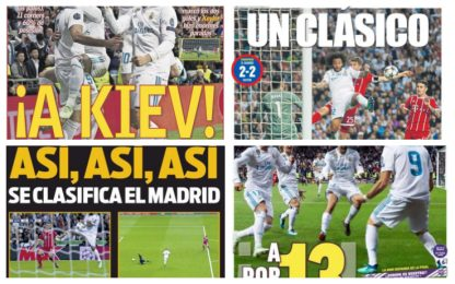 """Real a Kiev"", ""A por la 13!"": rassegna stampa"