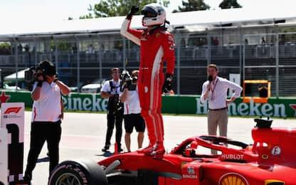 Pole di Vettel in Canada 17 anni dopo Schumi