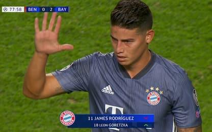 James, manita al Benfica ricordando il Porto