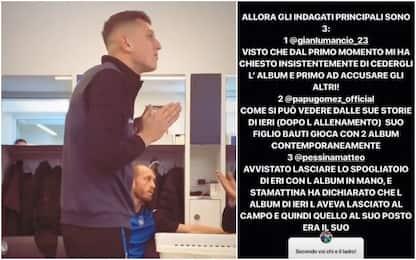 Album figurine rubato, Gollini indaga su Instagram