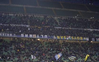 Cori razzisti nel derby, sanzionata curva Inter