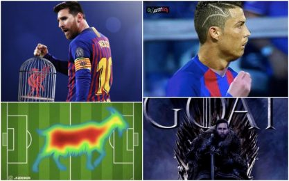 "Messi GOAT, e CR7 ""diventa Leo"": i migliori meme"