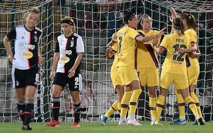 Juve femminile ko 2-0, l'andata va al Barça