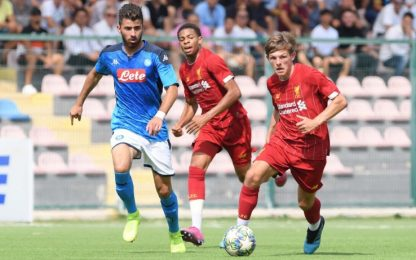 Napoli beffato in Youth League, 1-1 col Liverpool