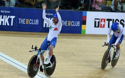 Mondiali, inseguimento a squadre: bronzo azzurro