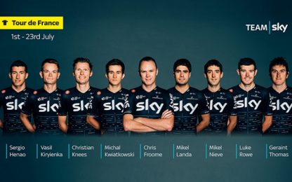 Tour de France, ecco il Team Sky