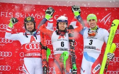 Slalom Kitzbuehel, Kristoffersen ferma Hirscher