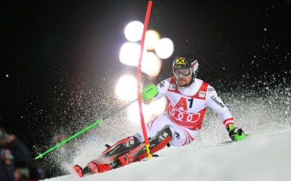 Fenomeno Hirscher, vince slalom e eguaglia Maier