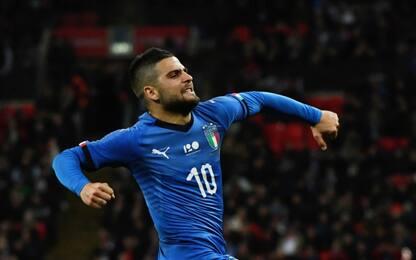 L'Italia riparte da Insigne: 1-1 con l'Inghilterra