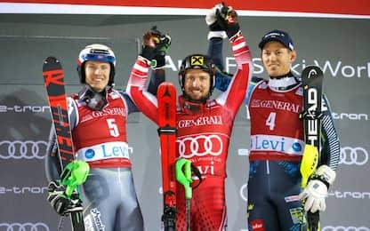 Slalom Levi: vince Marcel Hirscher. 17° Gross