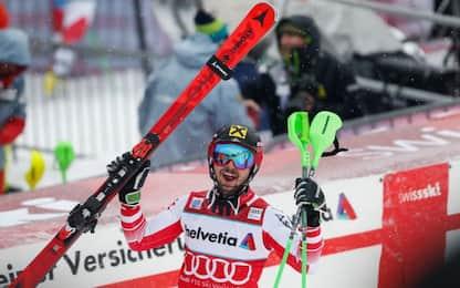Slalom Adelboden, successo di Marcel Hirscher