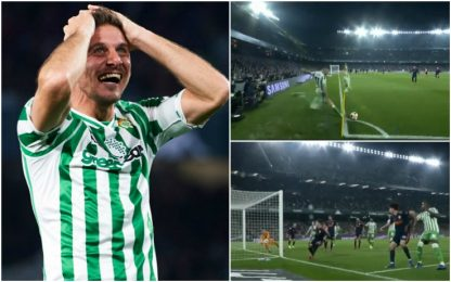 """Joaquin """"Olimpico"""", gol da calcio d'angolo in Copa"""