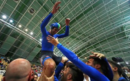 Ciclismo su pista, Mondiali: Ganna festeggia l'oro