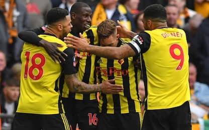 FA Cup, Watford in finale: Wolverhampton ko