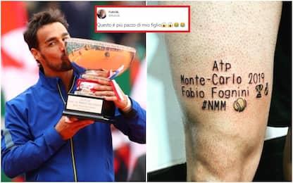 """Tattoo per Fognini, il papà: """"Più pazzo di Fabio"""""""