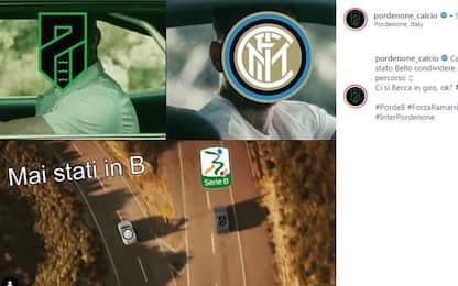 Pordenone in B, sui social si scherza con l'Inter