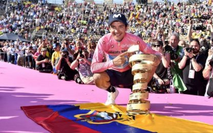Carapaz vince Giro d'Italia. Haga 1° nella crono