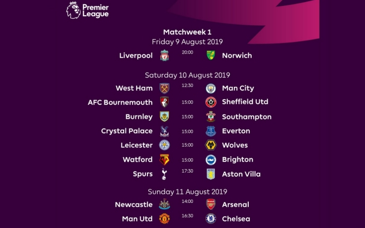 Calendario Premier League 2021 Pdf Il calendario della Premier League 2019 2020 | Sky Sport