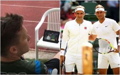 Zielinski, tablet a Dimaro per Federer-Nadal VIDEO