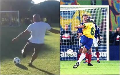 Roberto Carlos riprova punizione perfetta del '97
