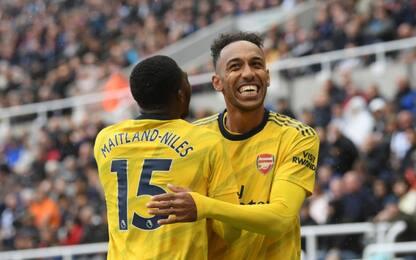 Arsenal, esordio ok: a Newcastle decide Aubameyang