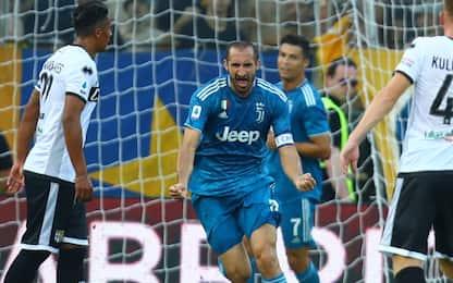 E' di Chiellini il primo gol della nuova Serie A