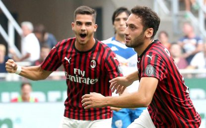Calha-gol, gioia Milan: Brescia ko a San Siro
