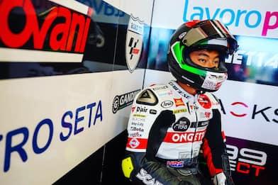 Moto3, pole Sic58 sul circuito di Simoncelli