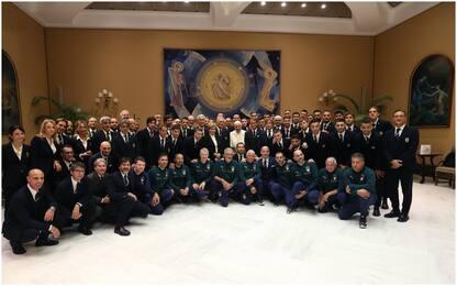 Nazionale ricevuta da Papa Francesco. FOTO