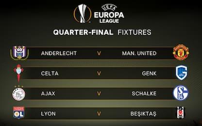 E. League, quarti: Mourinho trova l'Anderlecht