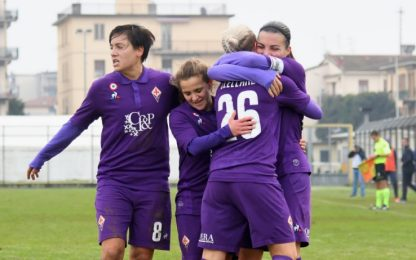 Calcio femminile: poker Fiorentina, Juve a +1