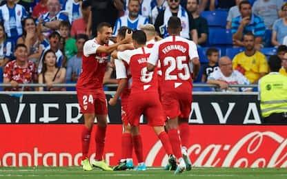 Liga, Siviglia ok all'esordio: 0-2 all'Espanyol