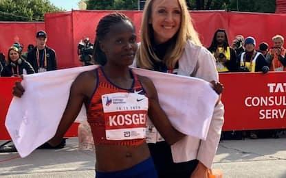 Maratona, record del mondo della Kosgei
