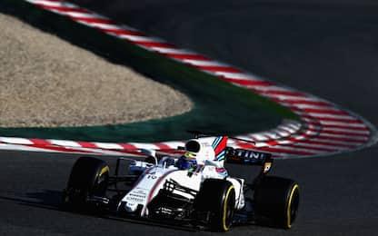 Test F1, Massa il più veloce. Vettel terzo tempo